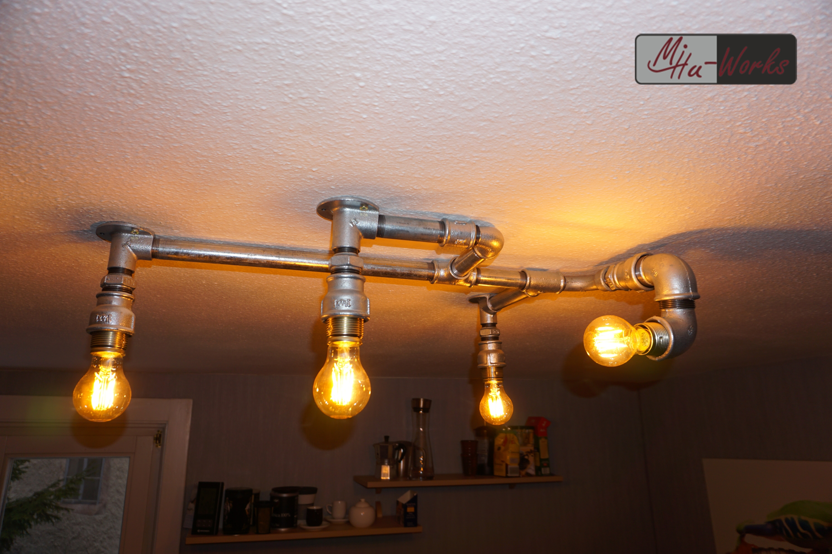 Design Deckenlampe Aus Rohren Industrial Design Lighting Mihu Works